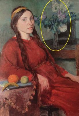 Maija sarkanā kleitā. 1914