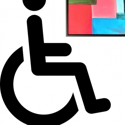 Visit gallery with a wheelchair